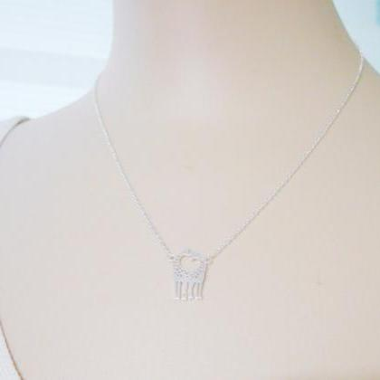 Two Giraffes In Love Necklace Giraf..