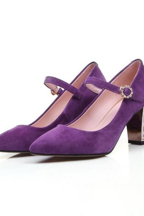 Women's Pure Color Pointed Toe Pump